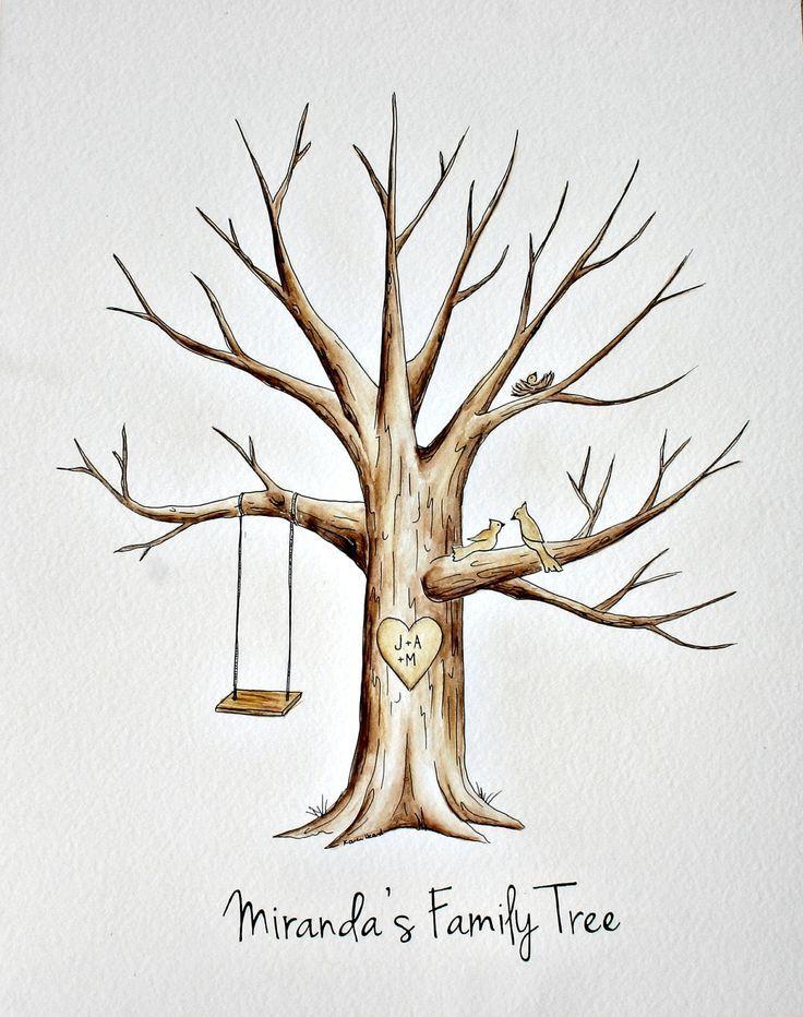 Fingerprint Guestbook Tree Template Hledat Googlem Svatebn