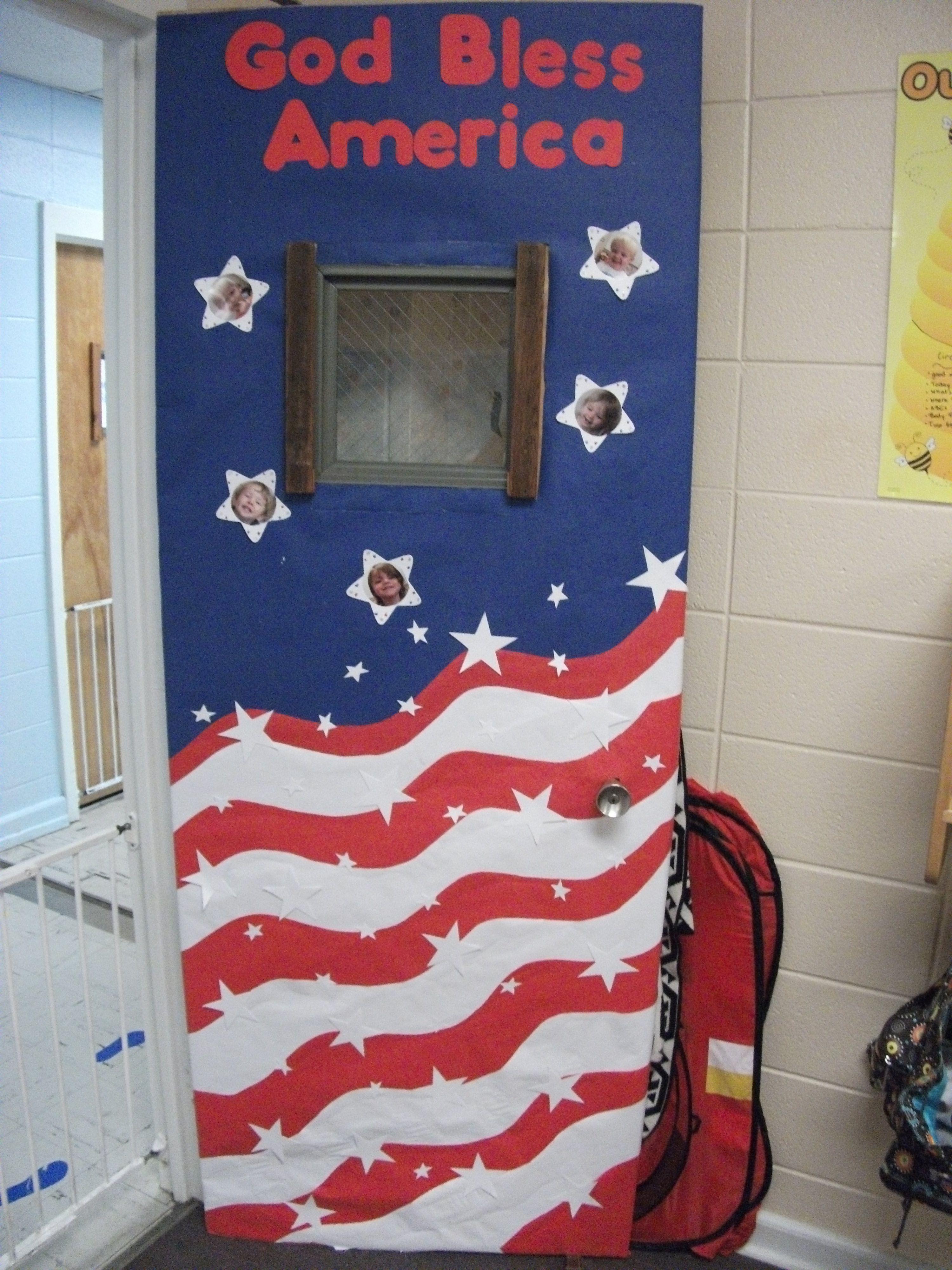 Fouth of july door design classroom art pinterest for Idea door activity days