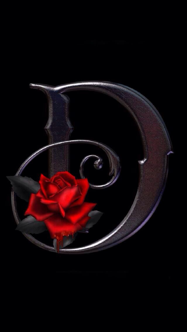 black letters with a rose - Google Search | Debra in 2019 ...