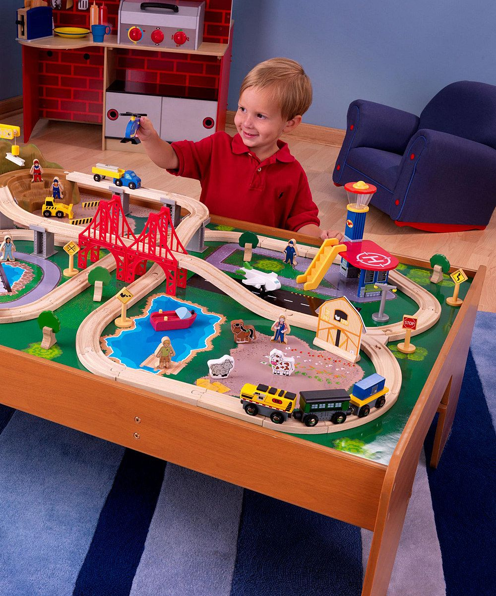 KidKraft Ride Around Town Train & Table Set | Daily deals for moms ...