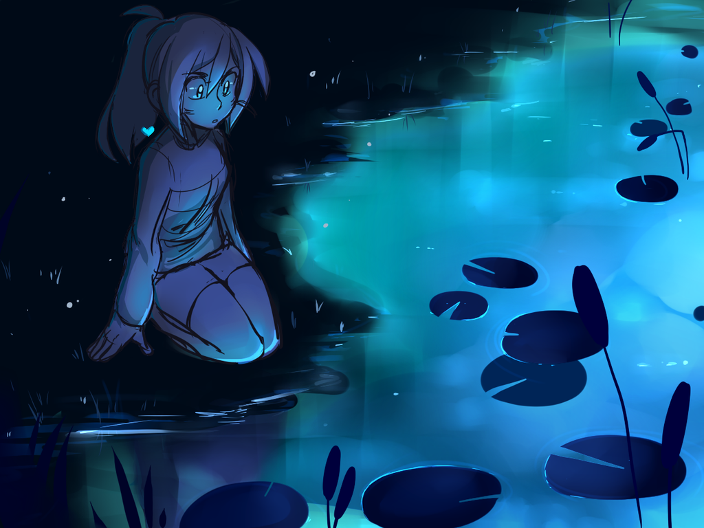undertale frisk in waterfall - photo #15