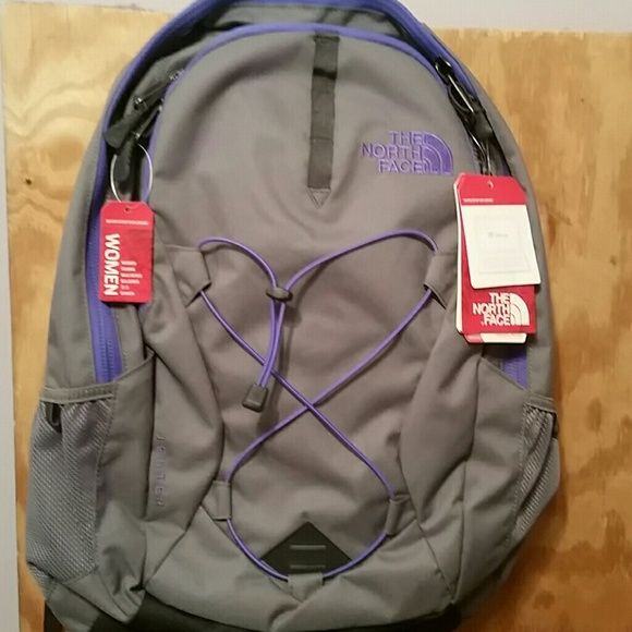 2ab72a1bb NWT North face Jester Backpack Grey & purple The North Face ...