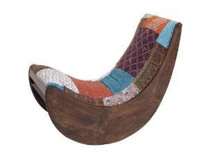 Attractive And Distinctive Wood Fabric Banana Rocking Chair