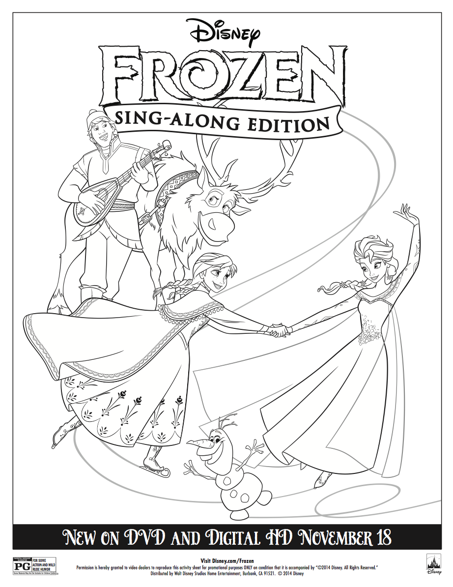Disney Frozen Sing Along Coloring Sheet Frozen Coloring Frozen Coloring Pages Disney Coloring Pages