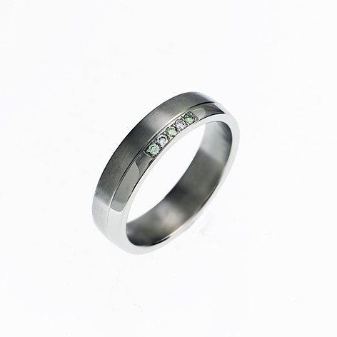 Grüne Raute, Hochzeit Band, Palladium Ring, moderne Männer-Ring, Herren Ehering, Palladium Band, Grüne Hochzeit, Herren Ring, Männer-Diamant-ring