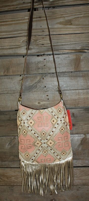 Use the discount code GUGREPKCAR for 10% off at www.gugonline.com! KurtMen Designs Cross Body Santa Fe Coral and Platinum Aztec Print