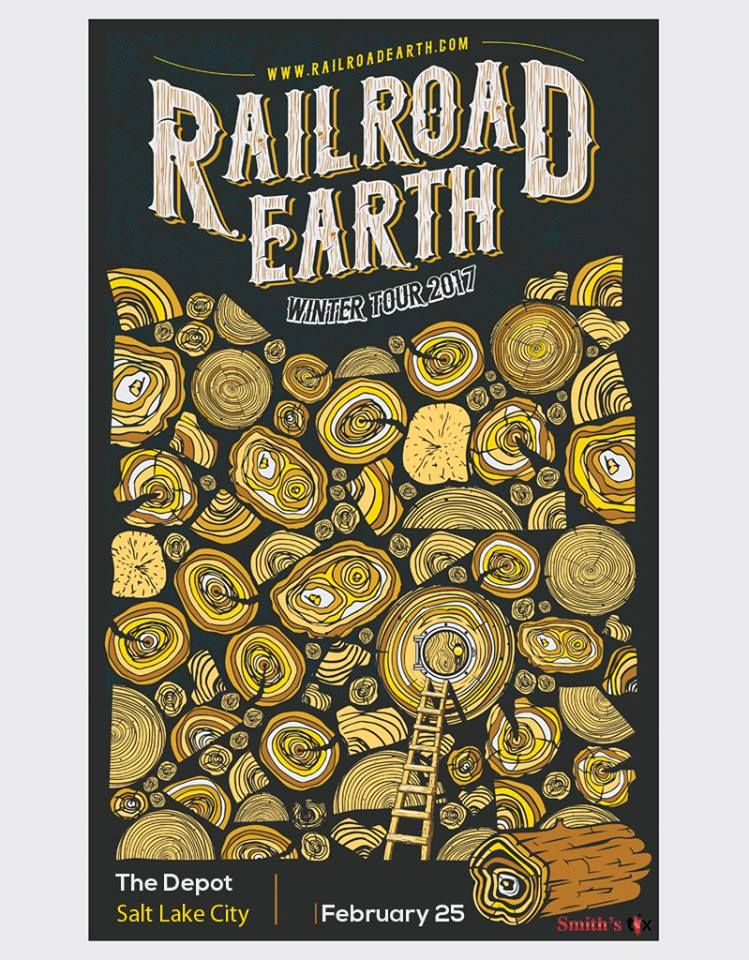 I Love The Cartoon Ish Bit And The Tree Rings I Love Nature Themes 2017 Winter Tour The Depot Salt Lake City Concert Posters Earth Tour Posters Tree rings cartoon 1 of 11. pinterest