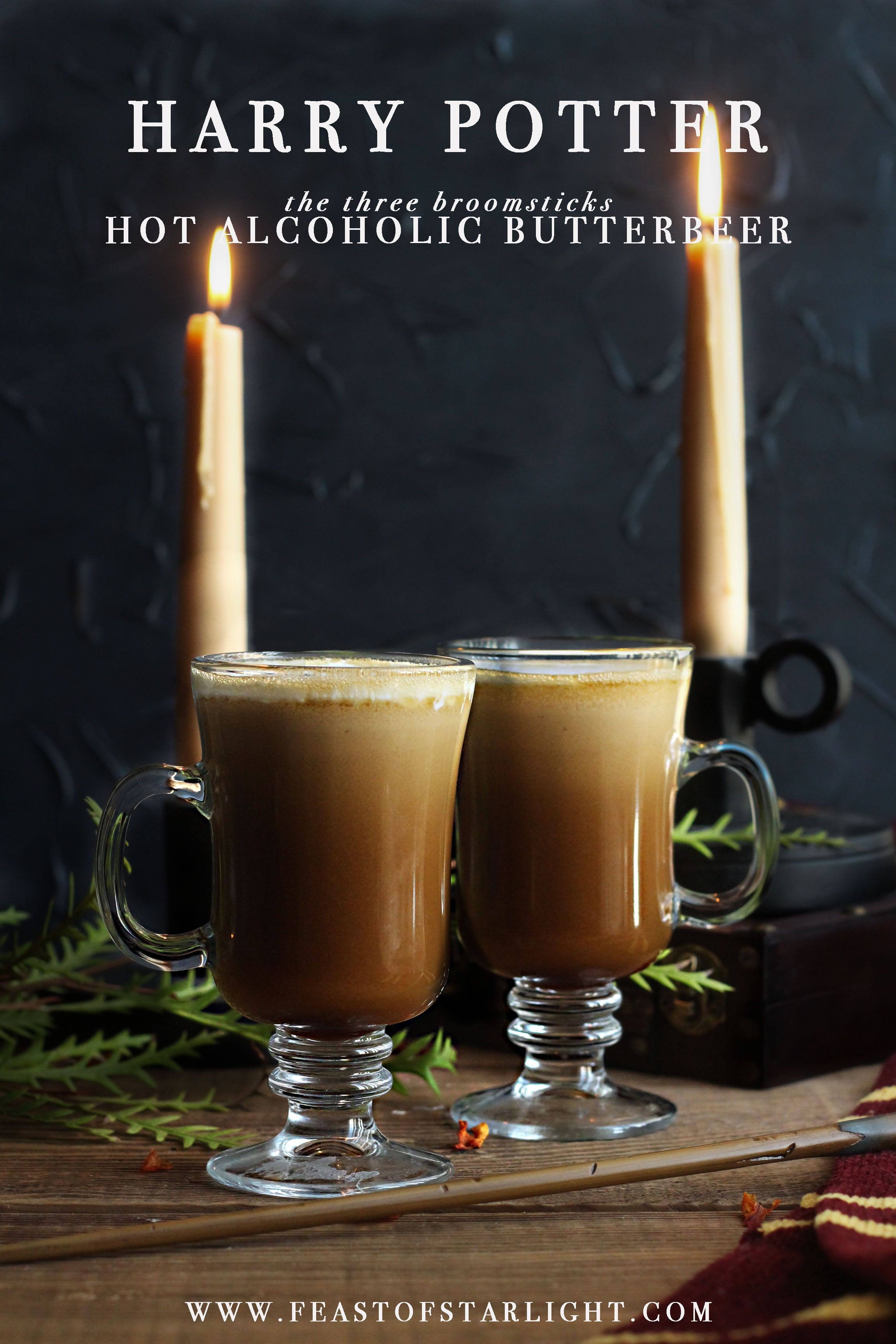 Hot alcoholic butterbeer recipe from the harry potter food for Hot alcoholic beverages