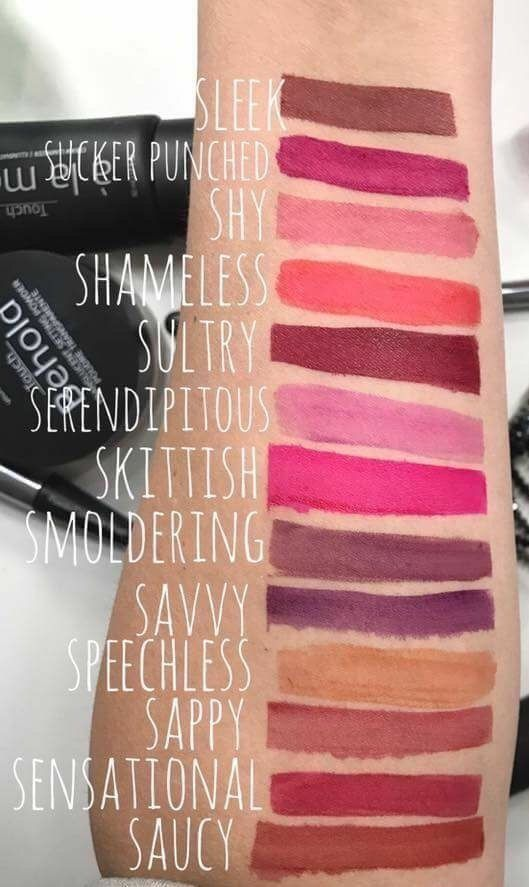 Here S Swatches Of The Beautiful Younique Stiff Upper Lip