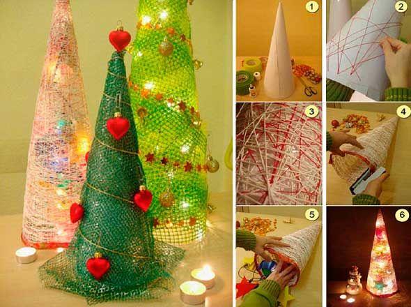 Ideas para hacer un rbol de navidad navidad pinterest - Como hacer cosas para navidad ...