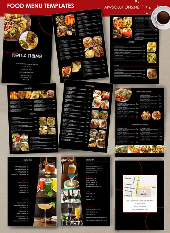 Food Menu Template Cocktail Menu Restaurant Menu Thai Menu Etsy Wedding Food Menu Fine Dining Menu Restaurant Menu Design