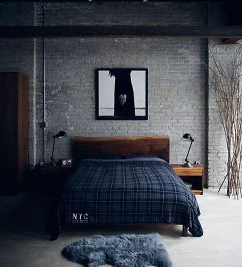 image result for dark masculine bedrooms beds