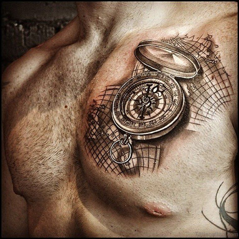 map and compass pics 51 attractive compass tattoo design on chest tattoos pinterest. Black Bedroom Furniture Sets. Home Design Ideas