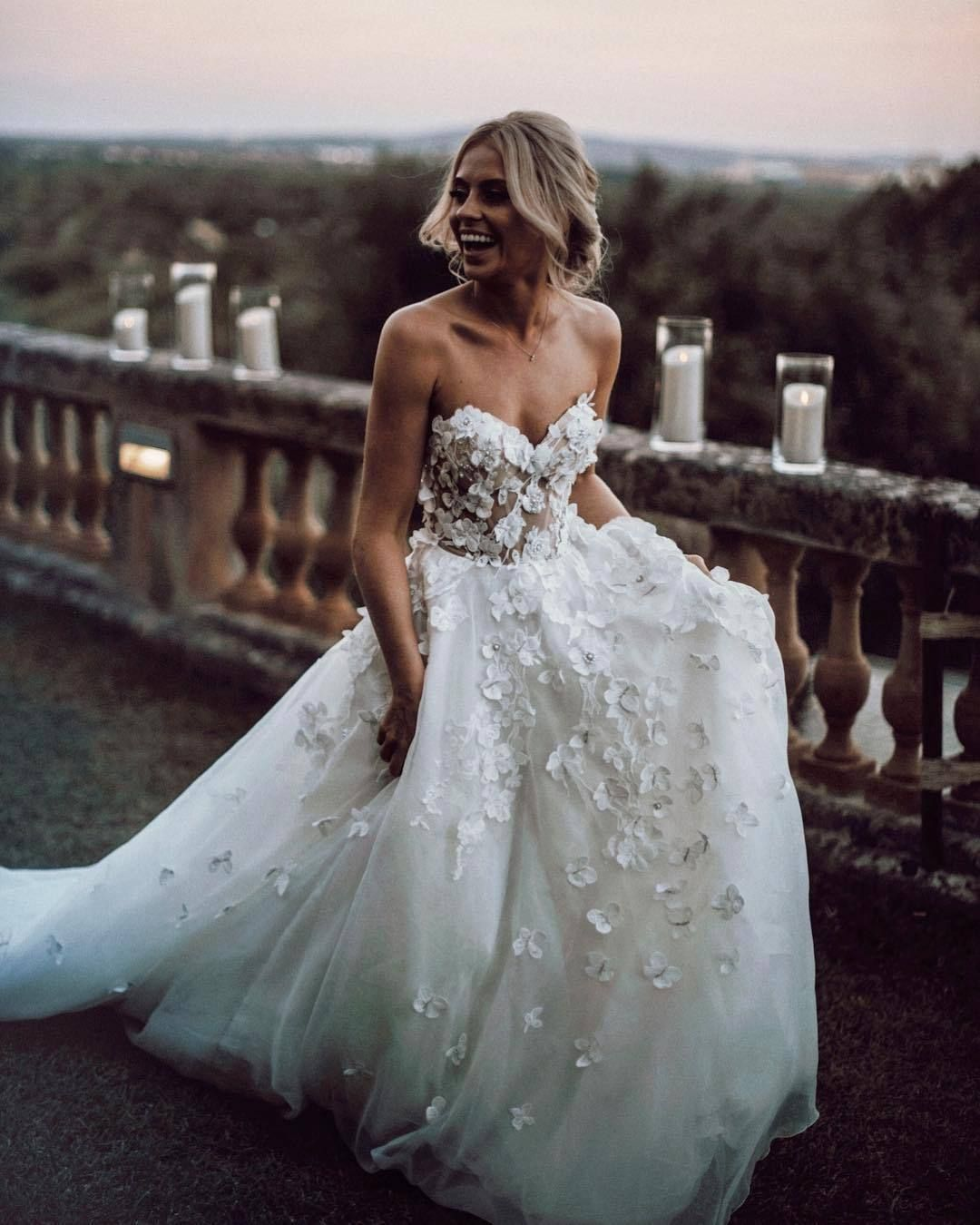 Chic Ivory Wedding Dress Lace Cheap Beautiful Wedding Dress Vb2636 Tulle Wedding Dress Wedding Dresses Applique Wedding Dress [ 1350 x 1080 Pixel ]