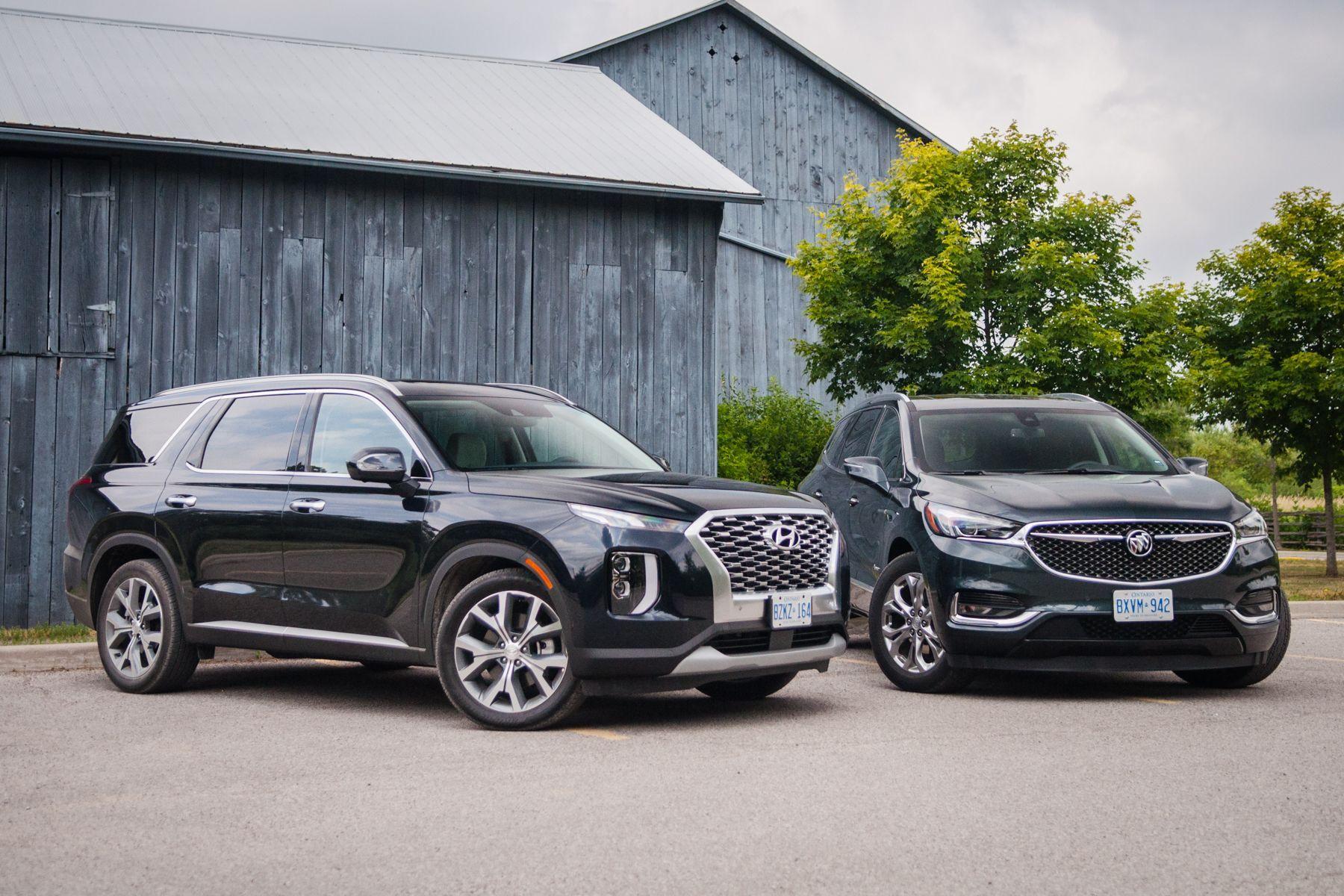 Suv Comparison 2020 Hyundai Palisade Vs 2019 Buick Enclave Buick Suv