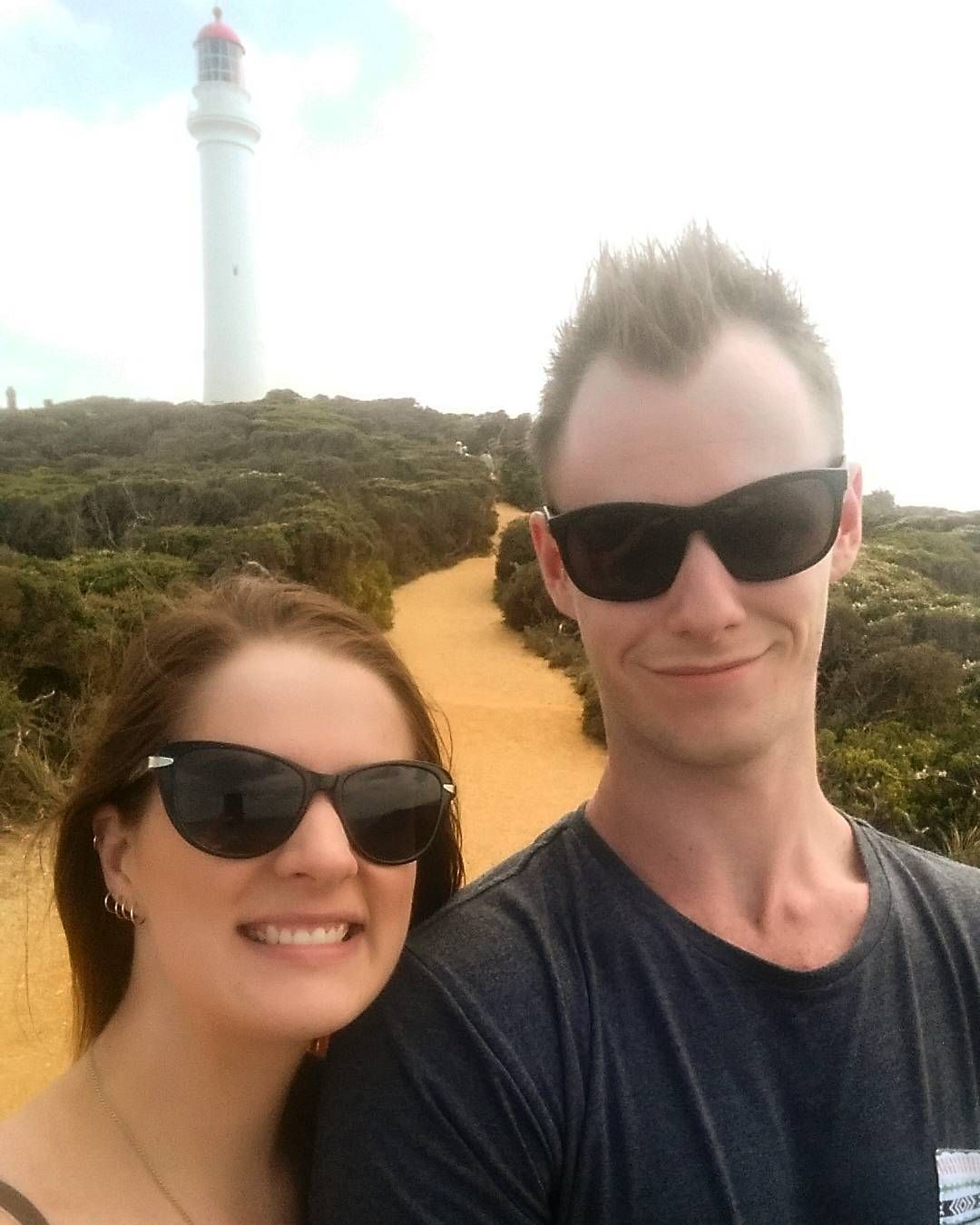 Lighthouse hangs  @bradcathie #aireysinlet #thegreatoceanroad #torquay #lorne #splitpointlighthouse #roundthetwist #holiday #adventures by helleetitch http://ift.tt/1IIGiLS