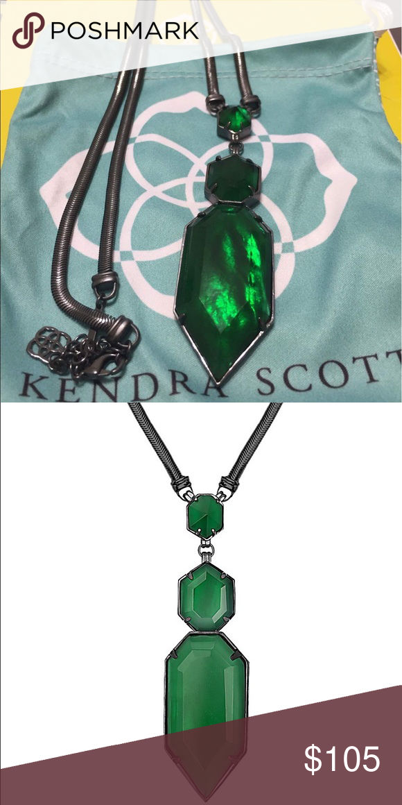 Kendra Scott Wyatt Necklace Beautiful and hard to find Emerald Illusion Wyatt! I really loved this necklace, but just don't find myself reaching for it anymore. It's in EUC and no wear anywhere on the chain Kendra Scott Jewelry Necklaces