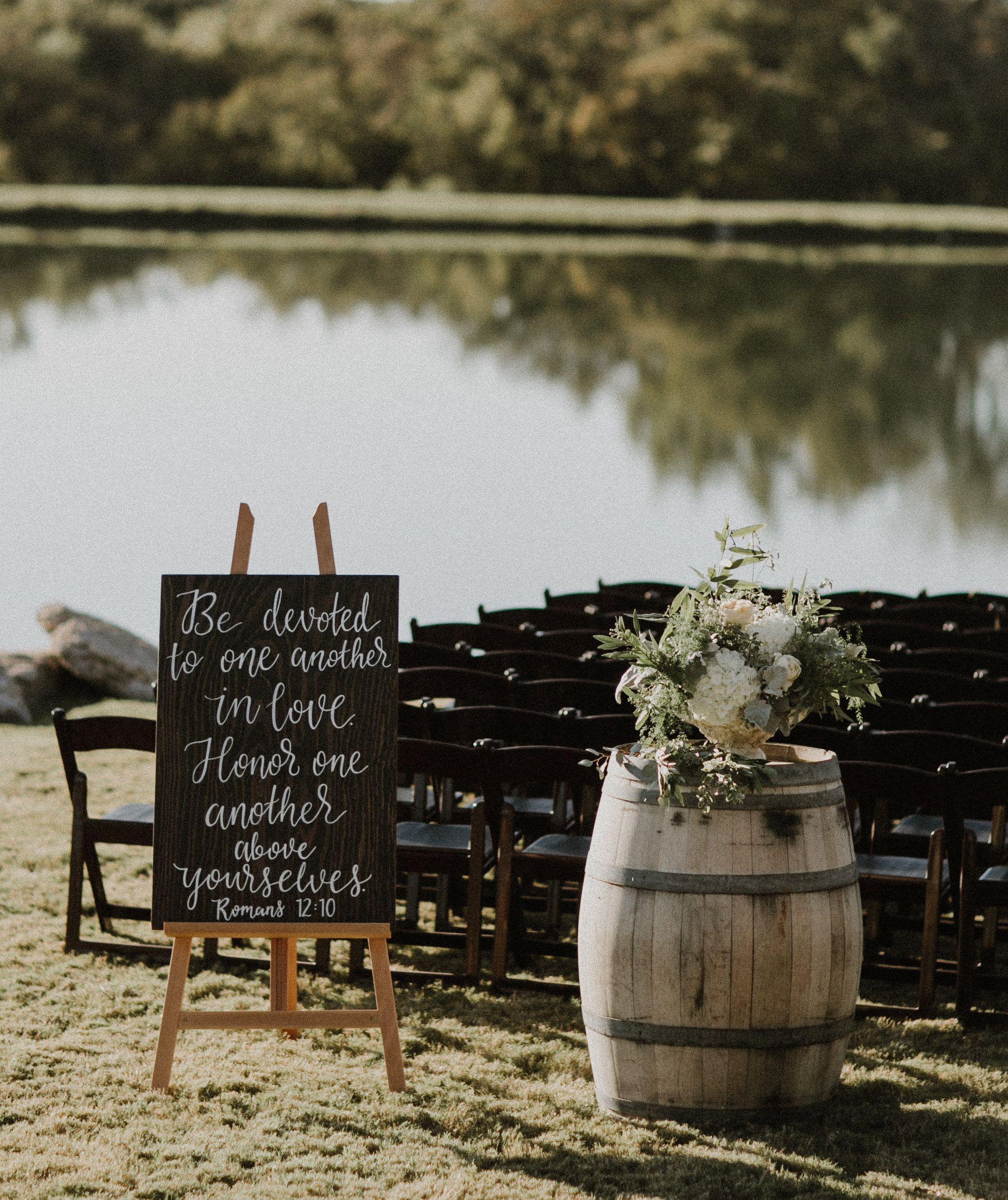 Rustic Outdoor Wedding Ideas: Outdoor Wedding Ceremony Decor // Natural, Rustic, Vintage
