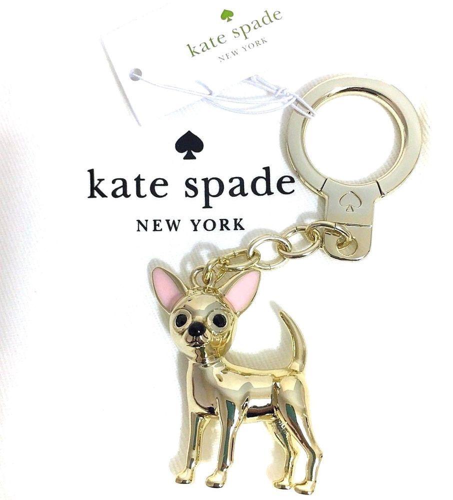 Kate Spade Handbag Chihuahua Puppy Dog Keychain Ring Bag Metal Charm Fob Nwt Ebay Designer Handbags Kate Spade Handbags