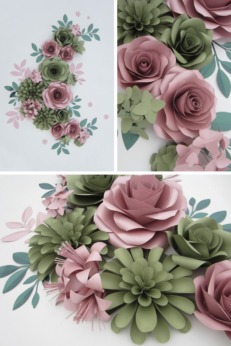 Giant Paper Flowers Wall Backdrop For Personalized Nursery Decor