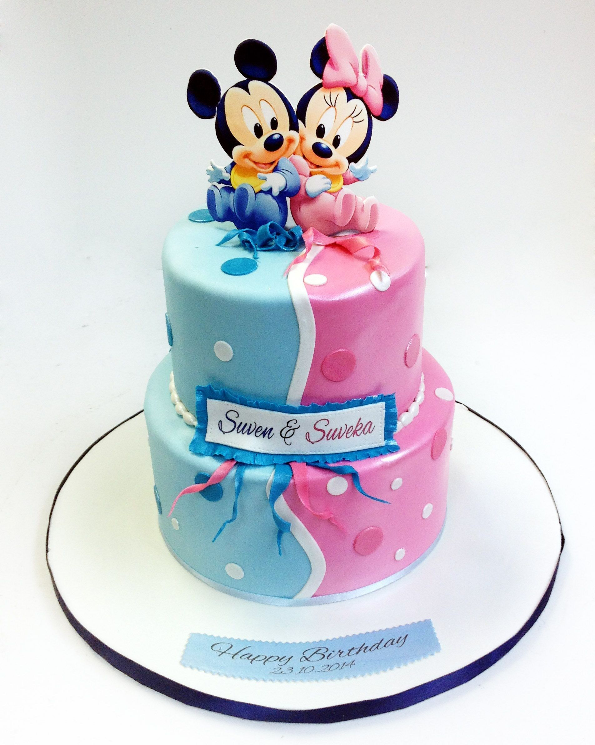 27 Marvelous Picture Of Happy Birthday Twins Cake Twin Birthday