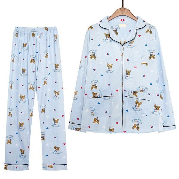 3d2e9dbbb5 Corgi Long Sleeve Pajamas Set