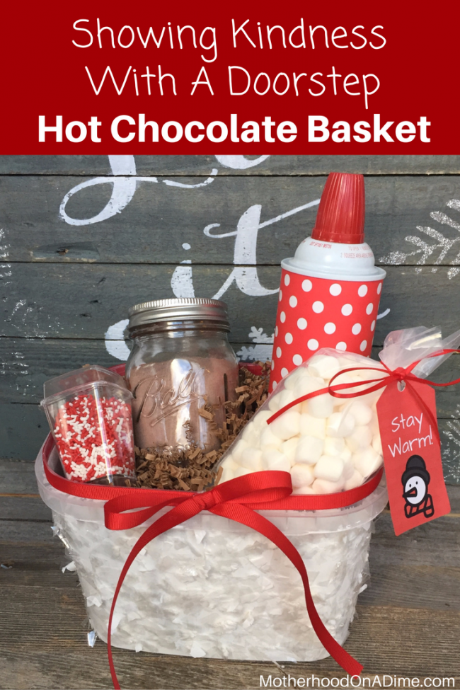 This Diy Hot Chocolate Basket Is Such An Awesome And Fun Way To Serve Others With Your Kids Chris Christmas Baskets
