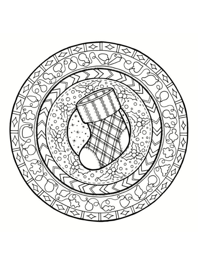Coloriage Mandala De Noël 30 Dessins à Imprimer تشكيلى Mandala