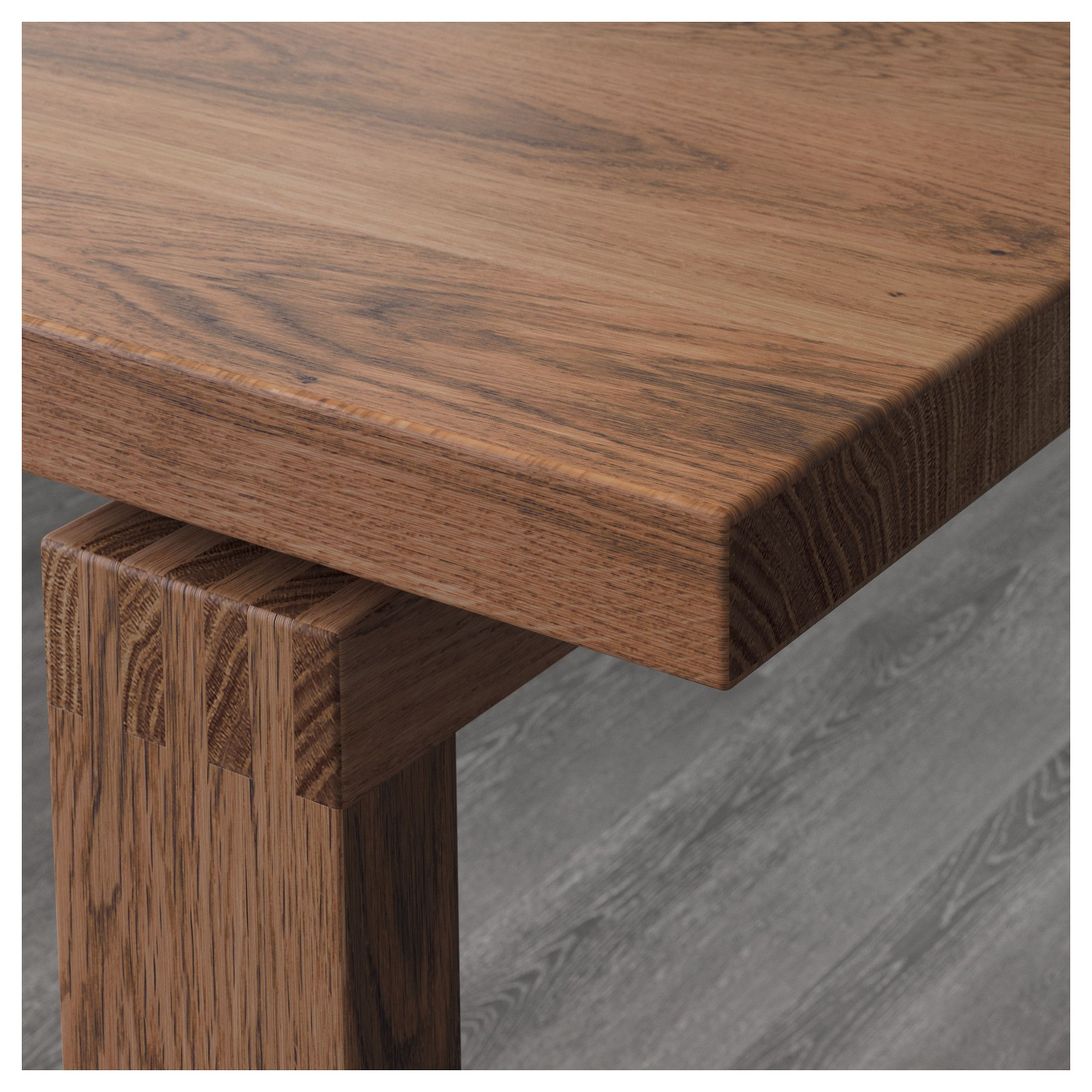 Ikea Esstisch Norden 220 Ikea Morbylanga Bernhard Oak Veneer Brown Stained Mjuk