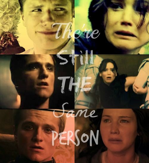 heart touching..... (sorry to ruin the moment, but Peeta's face in the first one literally made me LOL)