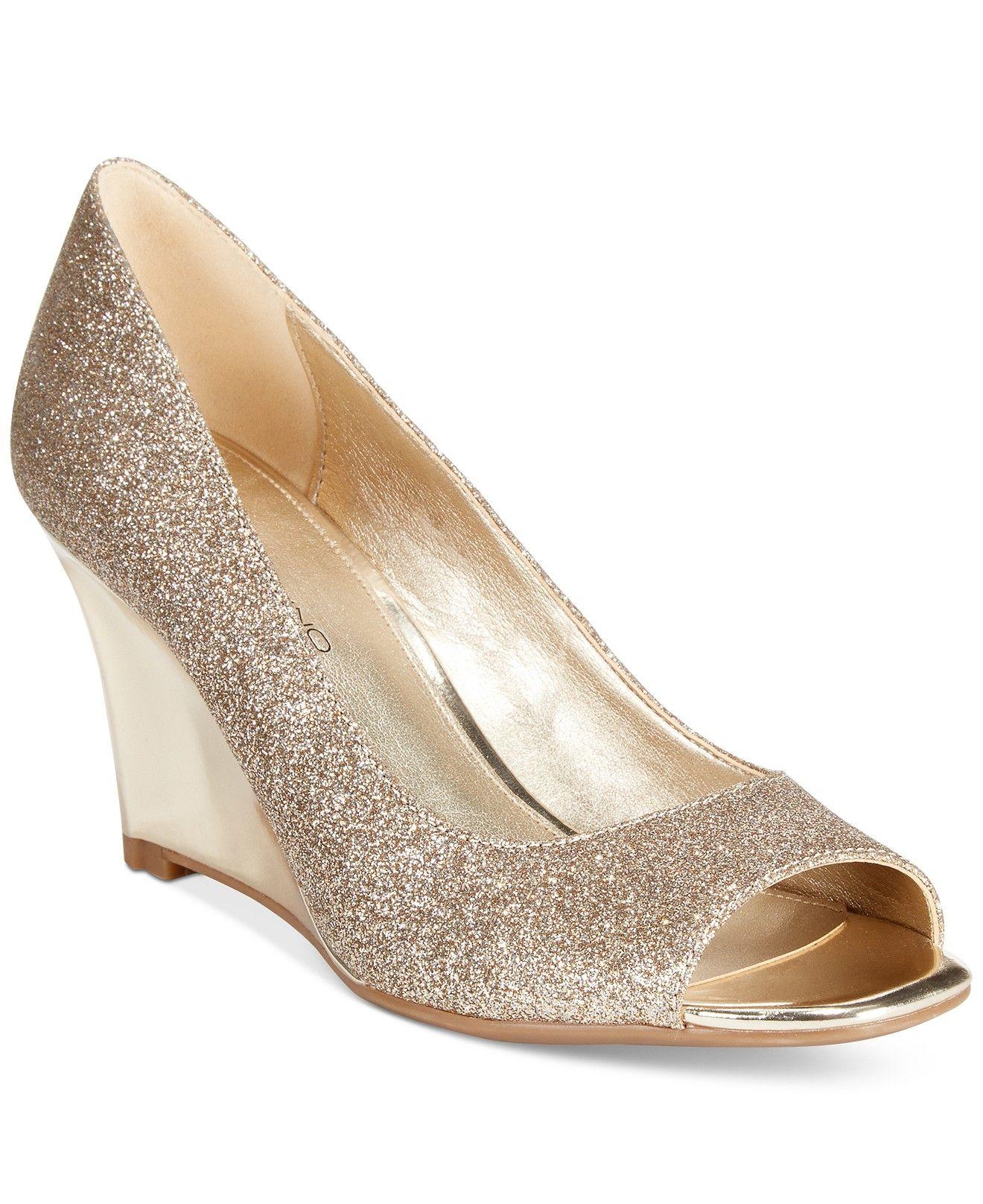 Bandolino Jamila Peep Toe Pumps Wedges Shoes Macys