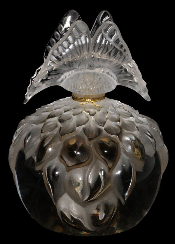 LALIQUE CRYSTAL 'BUTTERFLY' PERFUME BOTTLE