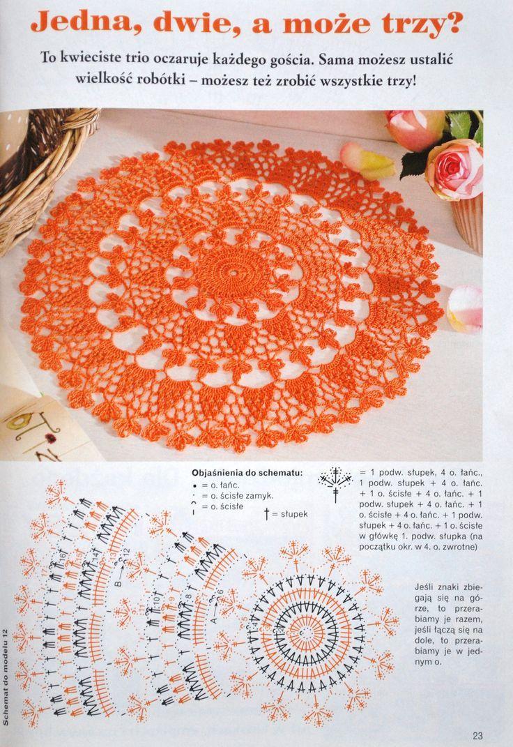 Kira scheme crochet   VL-Crochet   Pinterest   Tischdecken, Deckchen ...