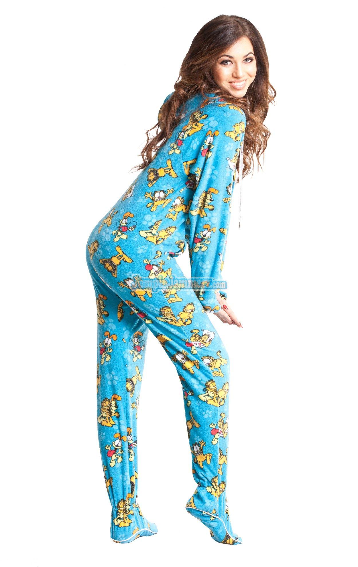 a2492236dd Garfield and Odie Pajamas Footie PJs Onesies One Piece Adult Pajamas ...