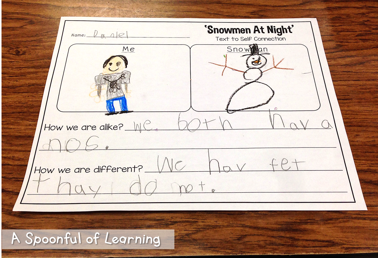 A Spoonful Of Learning Snowman Fun
