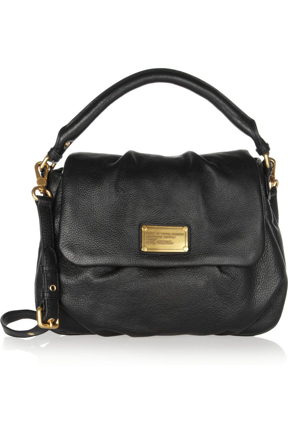 a09187a82dcb59 Marc by Marc Jacobs   Classic Q Lil Ukita textured-leather shoulder bag    NET-A-PORTER.COM