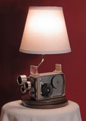 Vintage Kodak Cine Camera Lamp Camera Lamp Lamp Repurposed Lamp