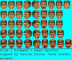 Sprite Database Doomguy Heads Sprite Database Sprite Doom