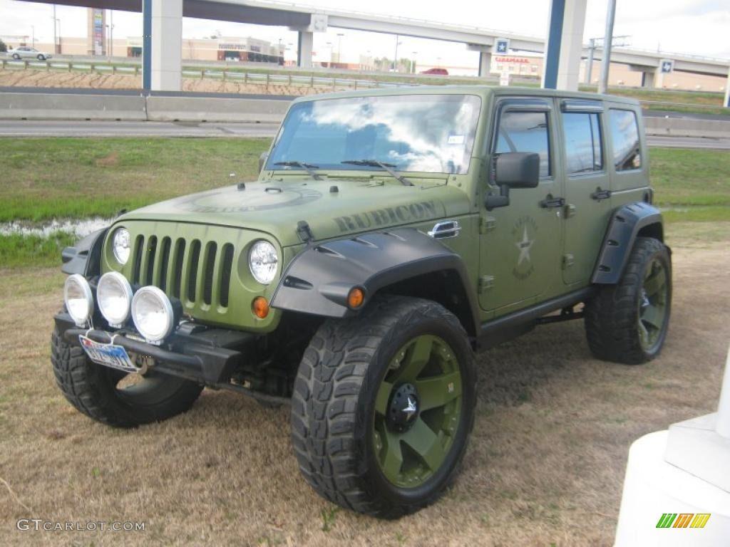2007 wrangler unlimited rubicon 4x4 jeep green metallic dark slate gray medium slate