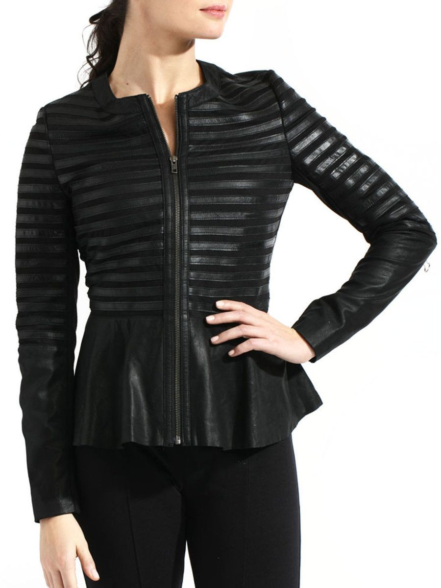 Shop Leather Jackets Casual A Line Ribbed Long Sleeve Leather Leather Jacket Online Discover U Leather A Line Skirt Jackets For Women Leather Jackets Online [ 1200 x 900 Pixel ]