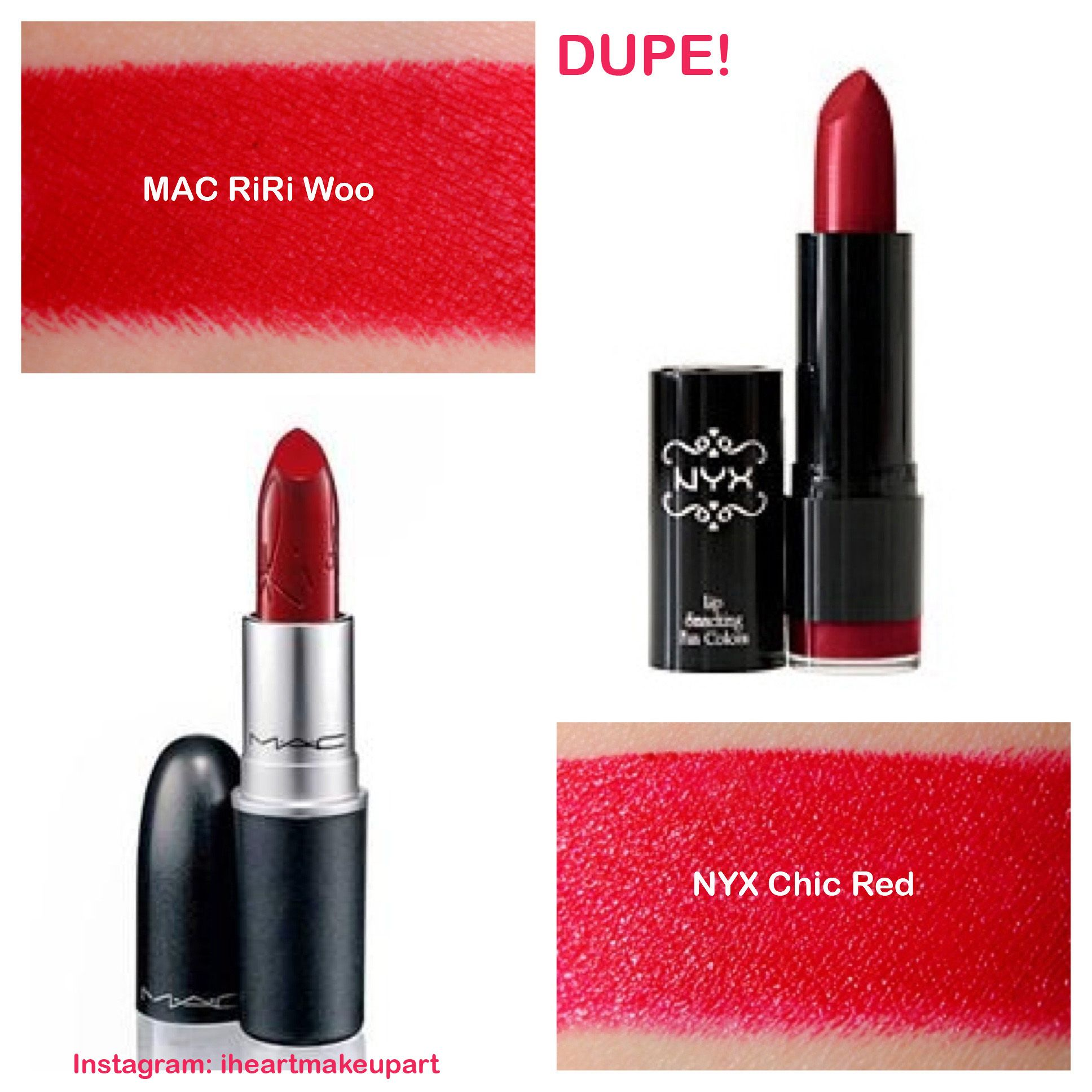 MAC RiRi Woo dupe! Just bought this NYX lipstick. It's GORGEOUS ...