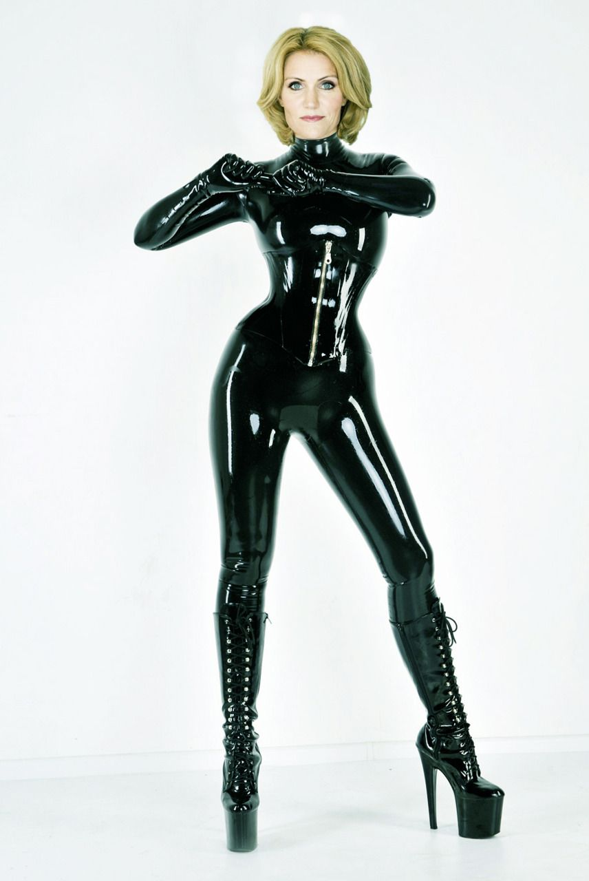 Black Latex Catsuit 121