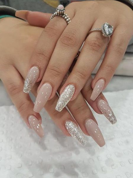 20 Trending Winter Nail Colors Design Ideas For 2020 Fall Acrylic Nails Silver Nails Silk Wrap Nails