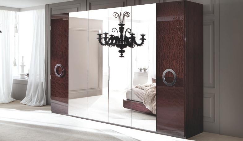 Alf Contemporary Bedroom Torino 6 Door Swinging Wardrobe Italian