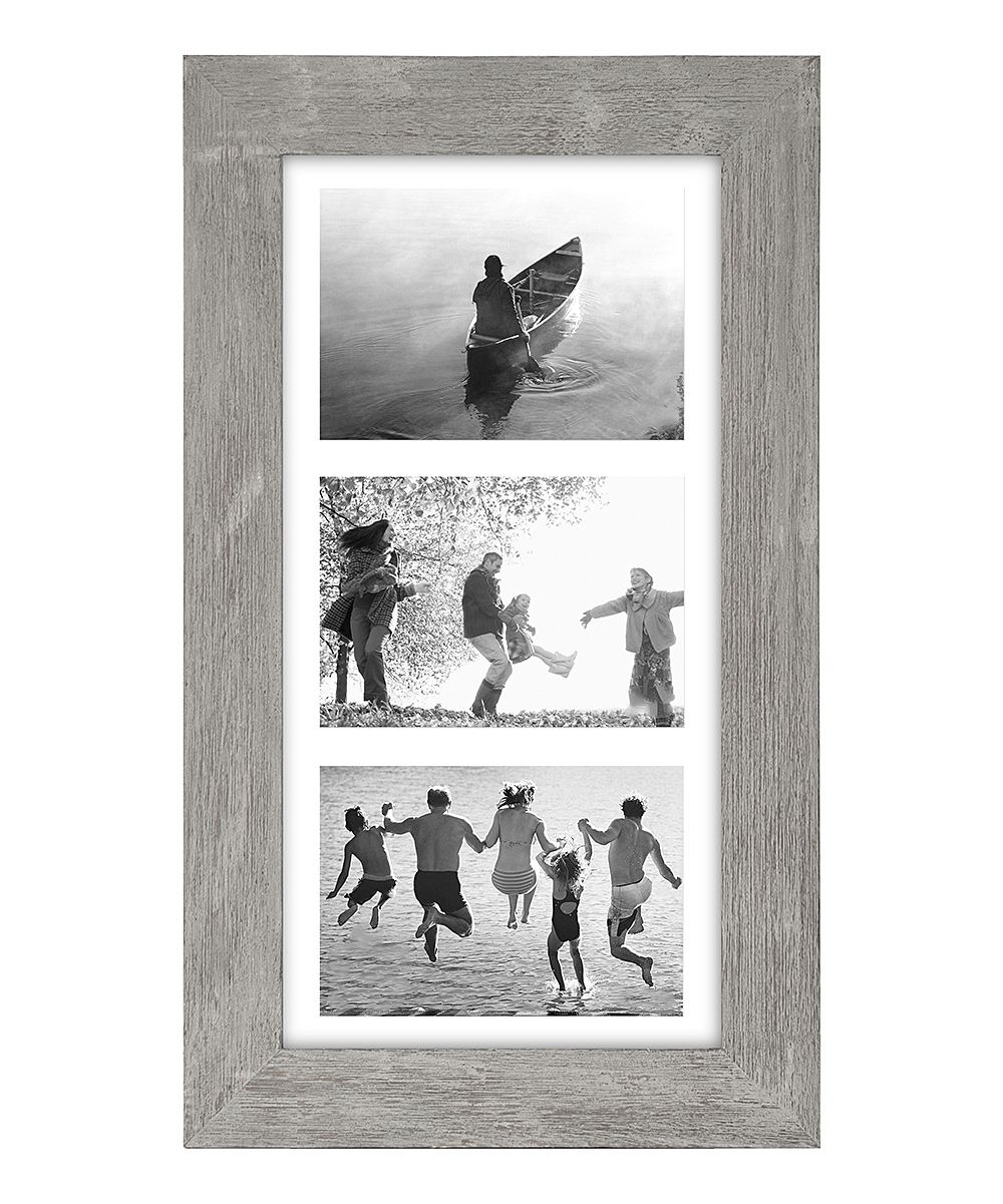 Gray Manhattan Matted Three-Photo Frame | Manhattan and Products