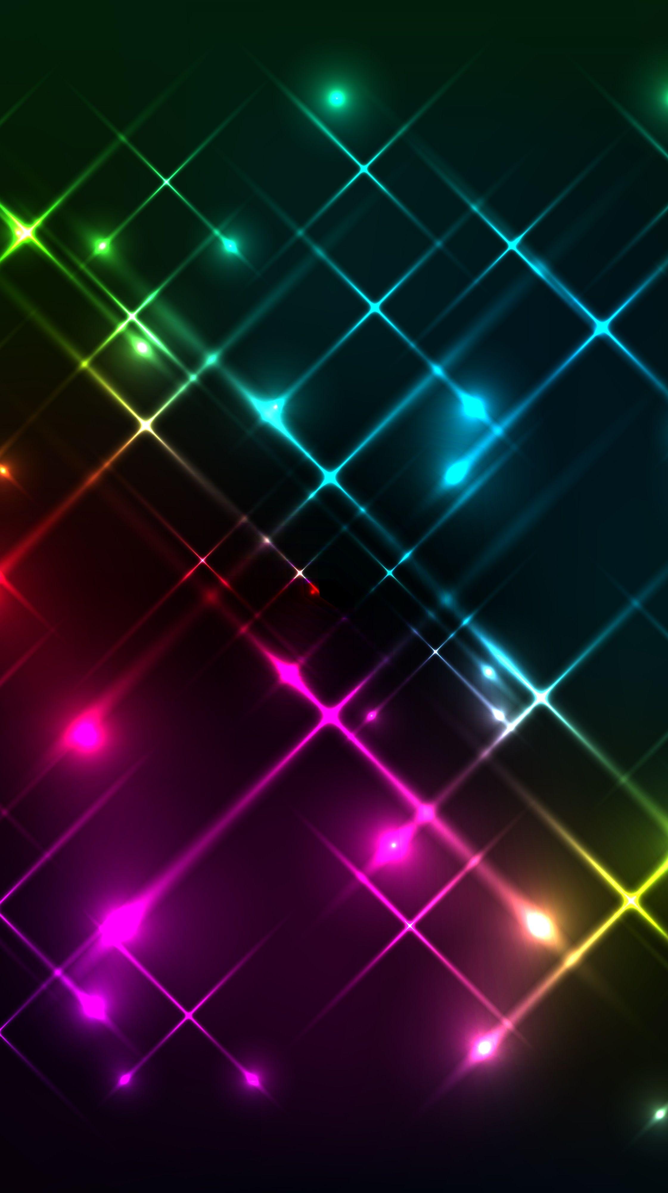 Multi color iPhone wallpaper Neon wallpaper, Rainbow