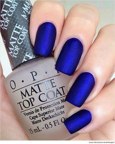 Top 10 Nail Polish Designs Art Gorgeous Royal Blue With A Matte