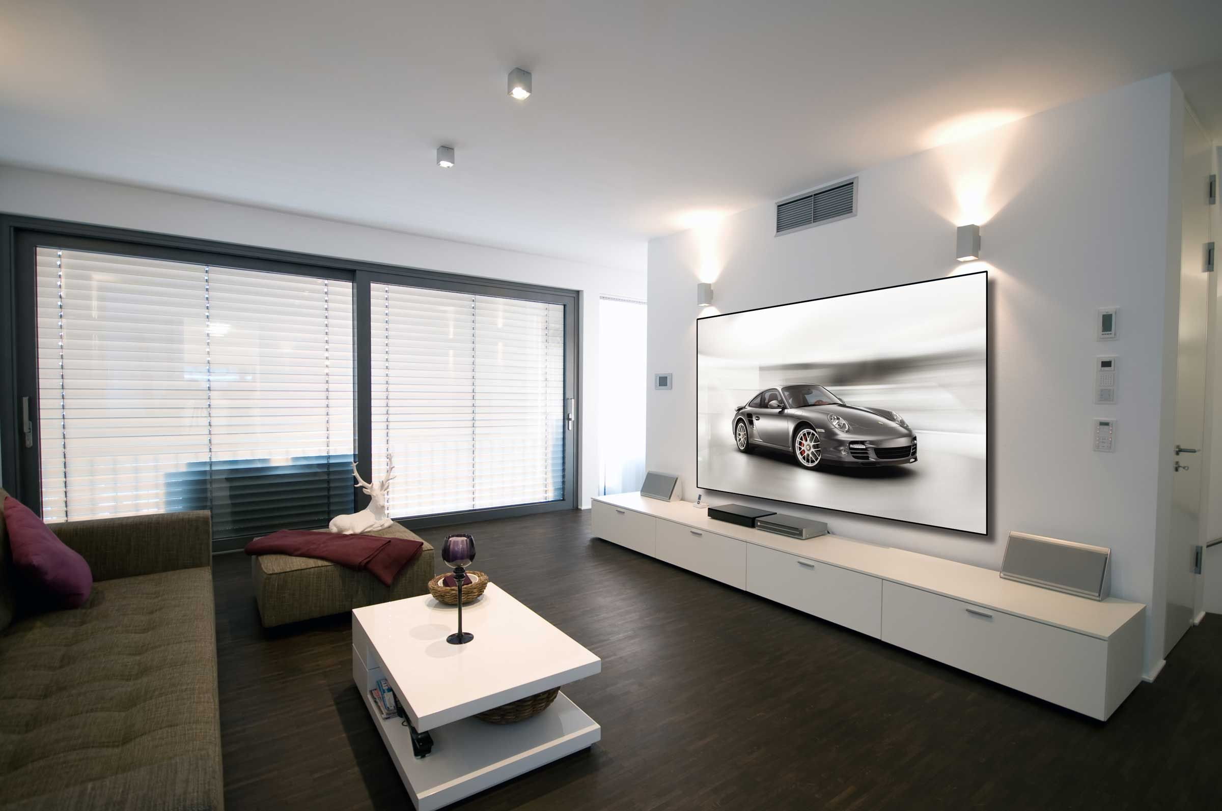 Frameless Home Projector Screens 5 Series Zero Edge
