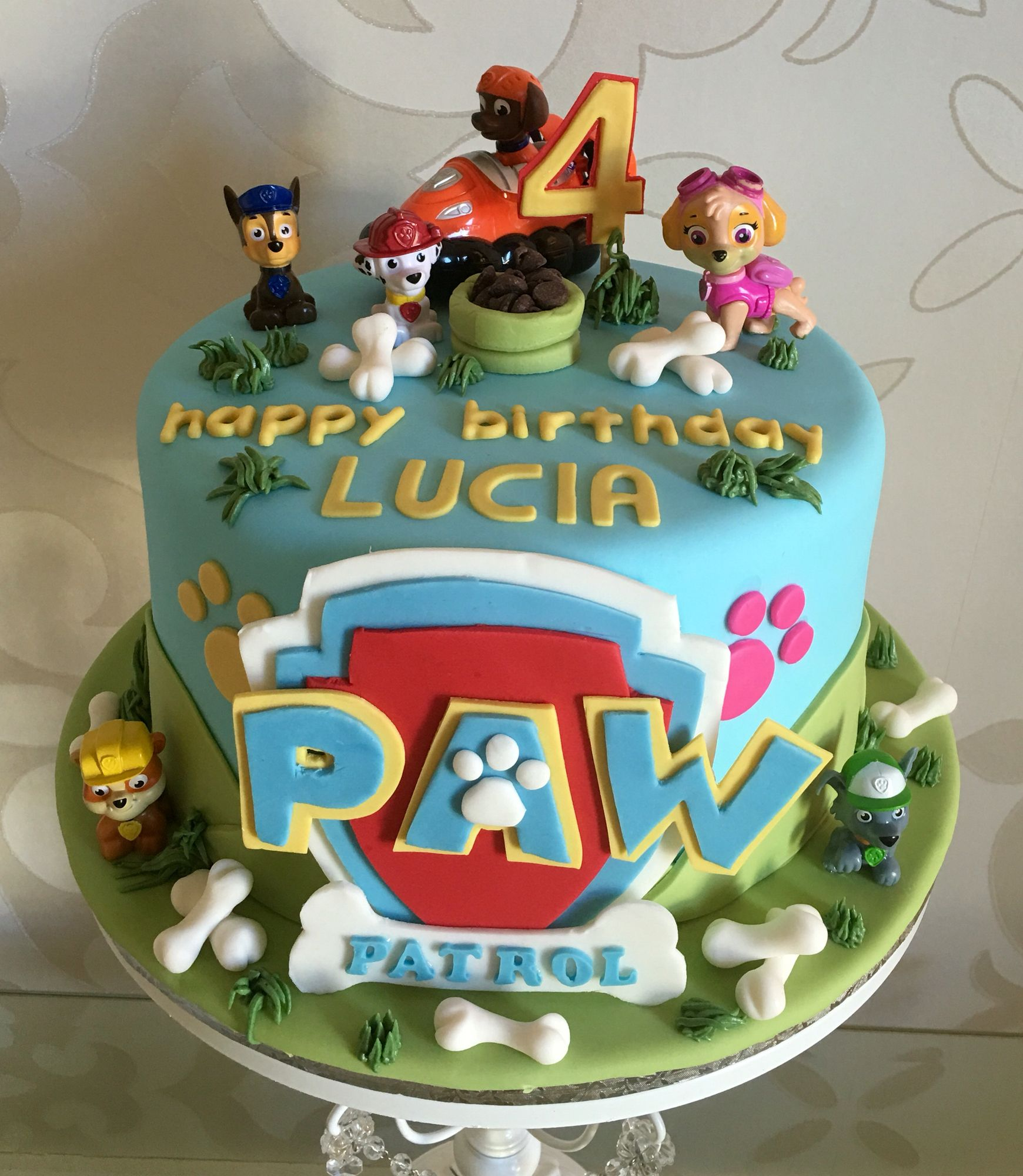 4 Years Old Paw Patrol Birthday Cake Paw Patrol Birthday Cake