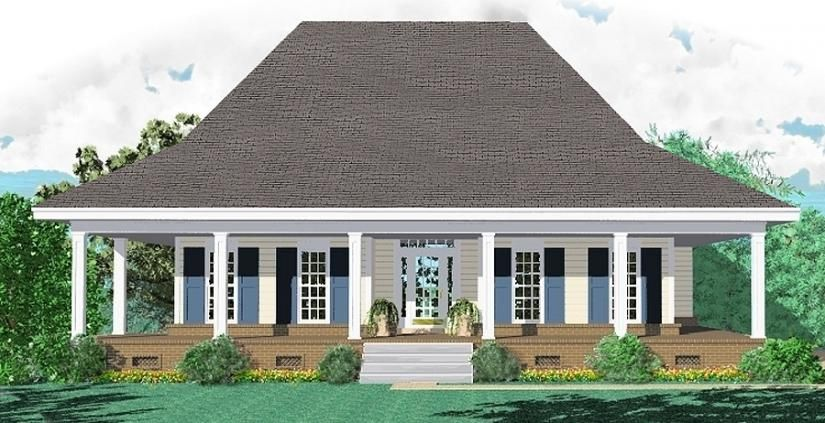 Simple Farmhouse Plan One Story House Plan Details Need Help Call Us 1 877 264 Pla Farmhouse Style House Plans Country Style House Plans Colonial House Plans